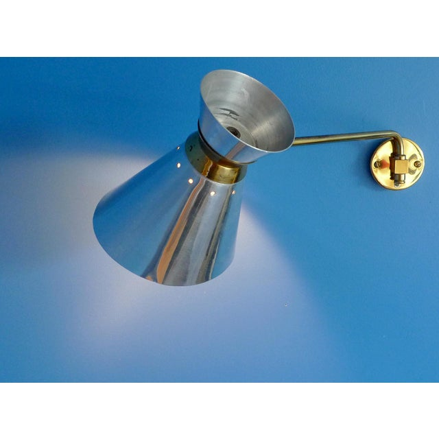 Pierre Guariche Style Adjustable Wall Sconces - A Pair - Image 4 of 9