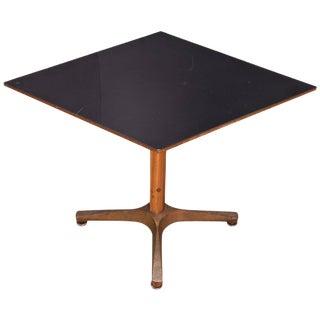 Mercantile Black Gold Bakelite Diamond Adjustable Height Side Table Display For Sale