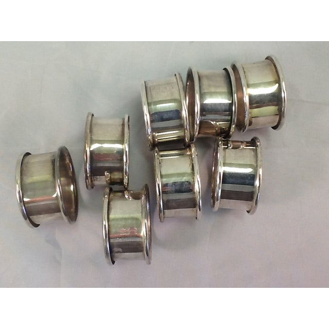 Vintage Silver Plate Napkin Rings - Set of 8 - Image 3 of 4