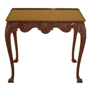 Kindel Carved Mahogany Irish Georgian Tea Table For Sale