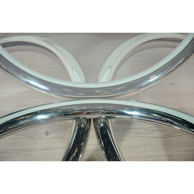 Italian Mid-Century Modern Coffee Table with Sculptural Base Design For Sale - Image 10 of 13