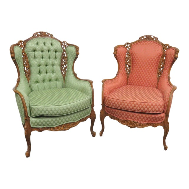 Louis XV Style Carved Chairs- a Pair For Sale