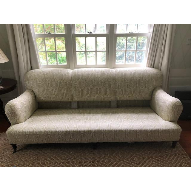 """George Smith standard roll arm 7ft 3-seat sofa medium depth (40"""") sofa. Purchased from the George Smith showroom in New..."""