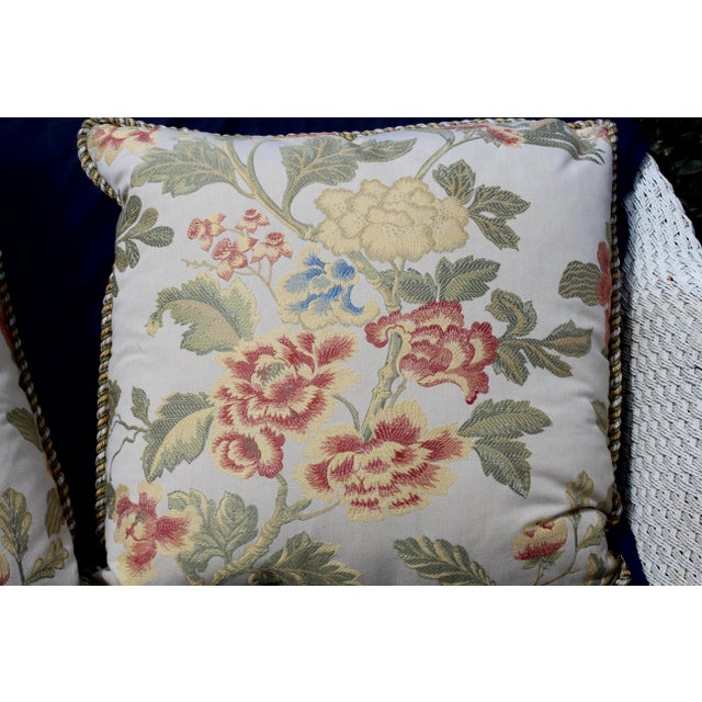 Pr. Of Possible Italian Scalamandre Down Filled Pillows For Sale - Image 10 of 13