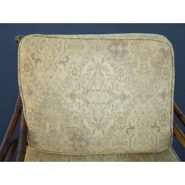 Vintage Rattan Accent Arm Chair - Image 10 of 11