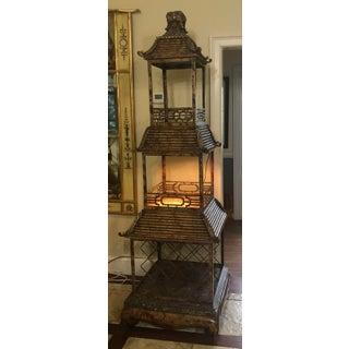 Palatial Maitland-Smith Pagoda Form Liquor/Wine Étagère Preview