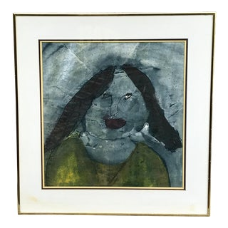 "1970s Vintage Original ""Outsider Art"" Painting For Sale"