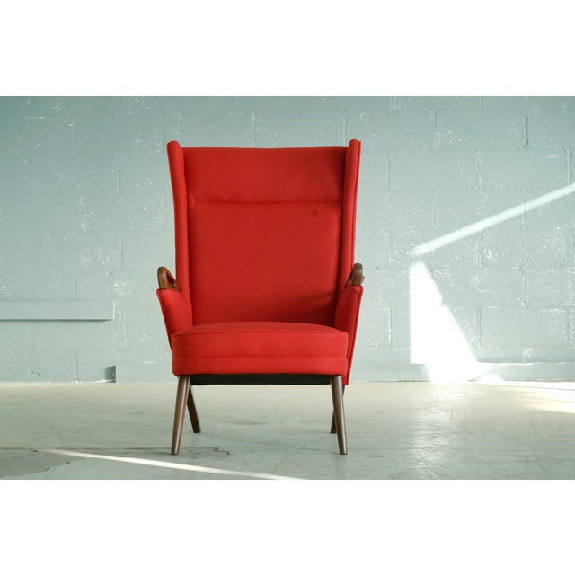 Mid-Century Modern Svend Skipper Attributed 1950s Papa Bear Style Lounge Chair For Sale - Image 3 of 8
