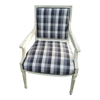 Distressed Farmhouse French Armchair For Sale