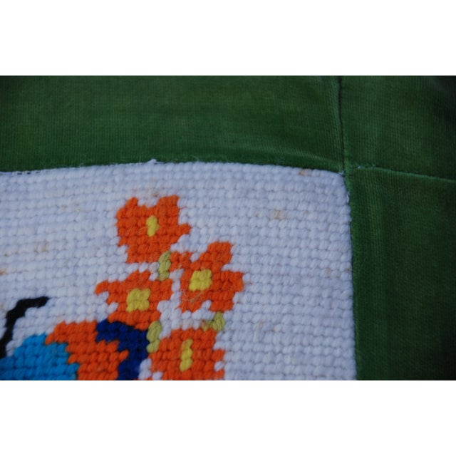 Vintage 1970's Butterfly Needlepoint Pillow - Image 5 of 6
