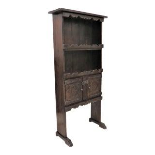 Antique French Primitive Rustic Oak Liquor Cabinet For Sale