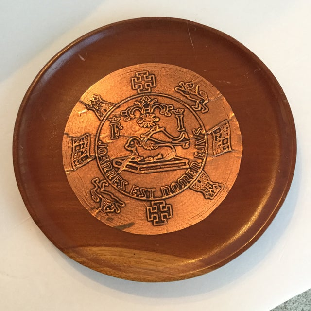 Copper Puerto Rico Plate For Sale - Image 7 of 10