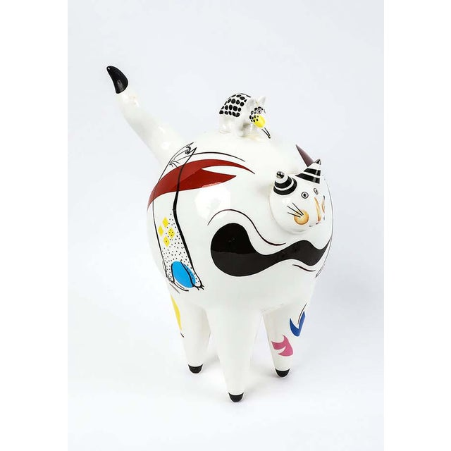 """Abstract Villeroy & Boch """"Fat Cat"""" Figurine For Sale - Image 3 of 4"""