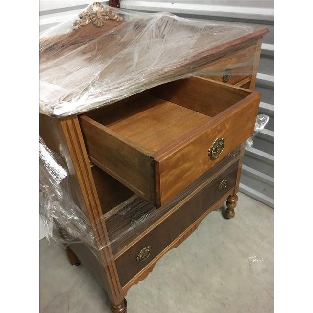 Vintage Maple Dresser with Walnut Veneers - Image 6 of 6