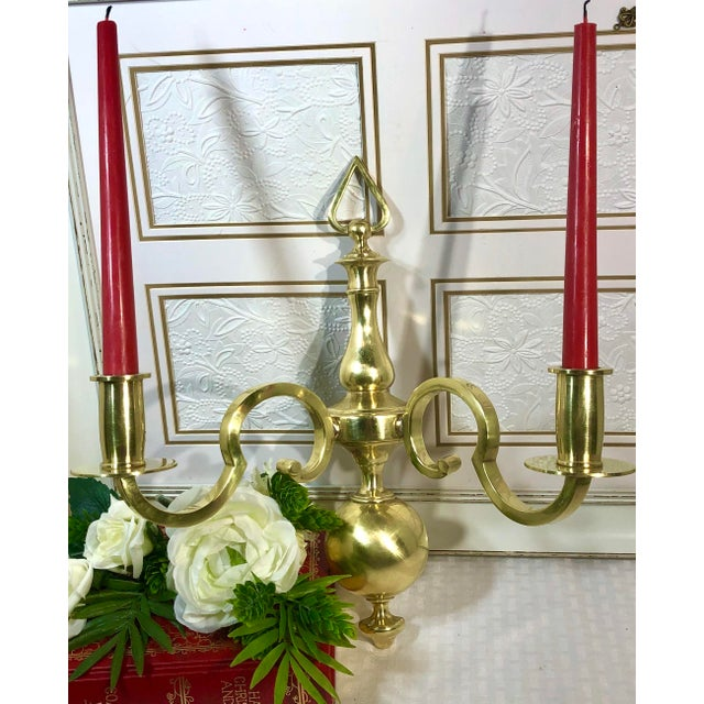 Vintage Solid Brass Taper Wall Candle Holders Sconces - a ...