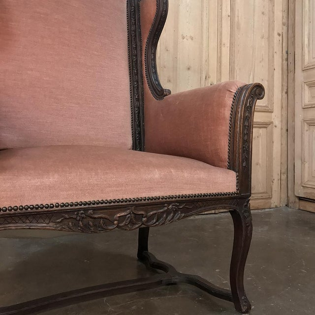 Late 19th Century 19th Century French Louis XVI Grand Armchair ~ Bergere For Sale - Image 5 of 11