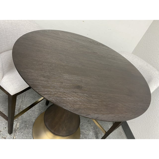 2010s Hooker Furniture Dining Room Curata Pub Table + Two Barstools Set For Sale - Image 5 of 13