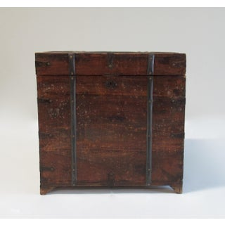 18th Century English Hand-Forged Wood and Iron Footed Square Trunk Preview