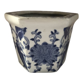 Blue & White Cachepot For Sale