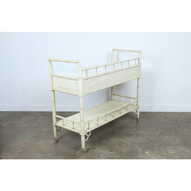 Thomasville Bamboo Style Serving Cart - Image 10 of 11