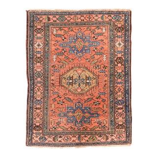 Antique Tribul Hand Made Heriz Persian Rug For Sale