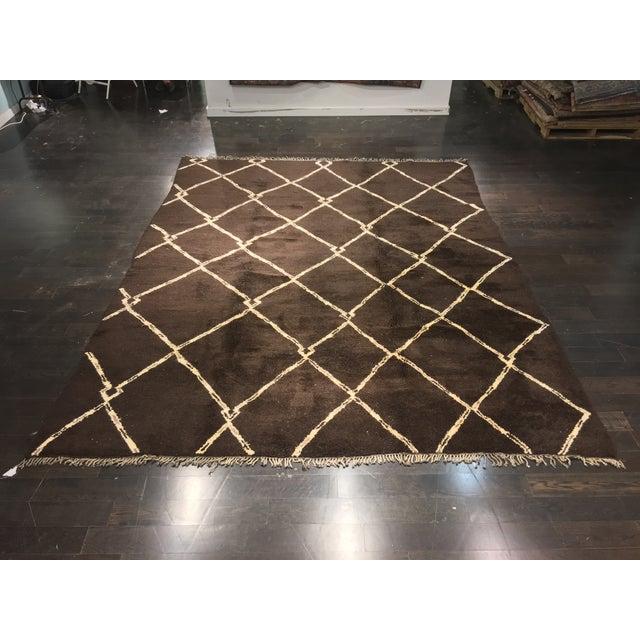 "Organic Moroccan Wool Rug - 9'3"" x 11'4"" - Image 2 of 9"