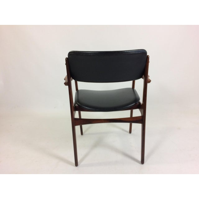 Oddense Maskinsnedkeri Mid-Century Modern Erik Buch Armchair in Rosewood, Inc. Reupholstery For Sale - Image 4 of 10
