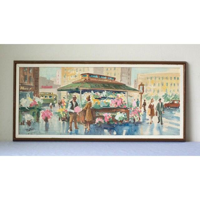 Danny Hall Mid-Century San Francisco Oil On Board Painting