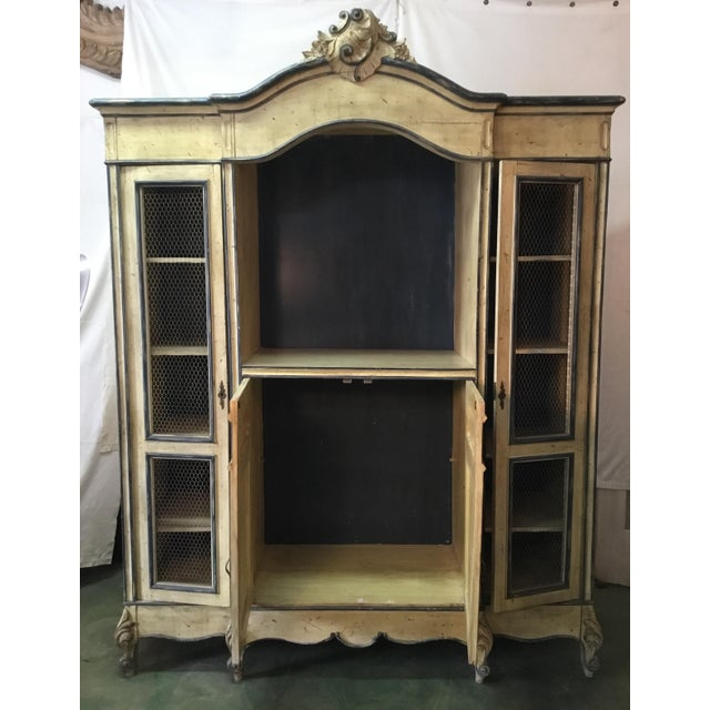 White French Carved Center Crown Armoire For Sale - Image 8 of 13