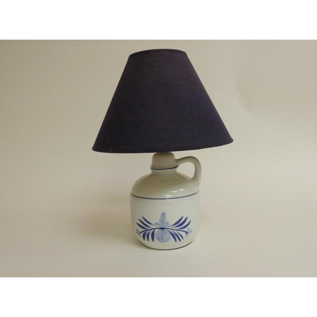 Blue & White Ceramic Table Lamp - Image 2 of 4