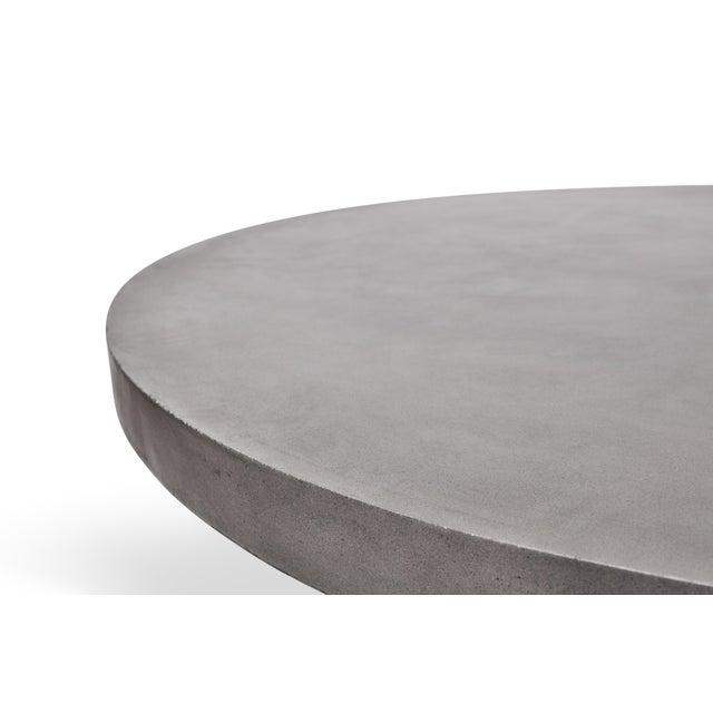 Hourglass Dining Table in Dark Gray For Sale In Philadelphia - Image 6 of 7