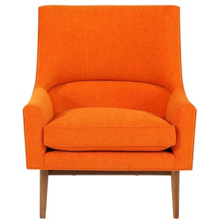 Cedrick Walnut Base Lounge Chair For Sale