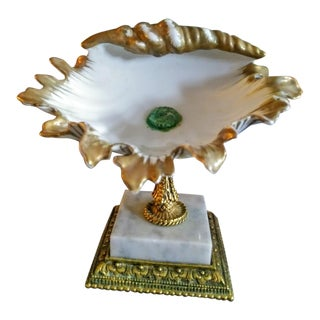 Vintage Style Built Ny Sea Shell Bathroom Soap Holder Victorian Stand For Sale
