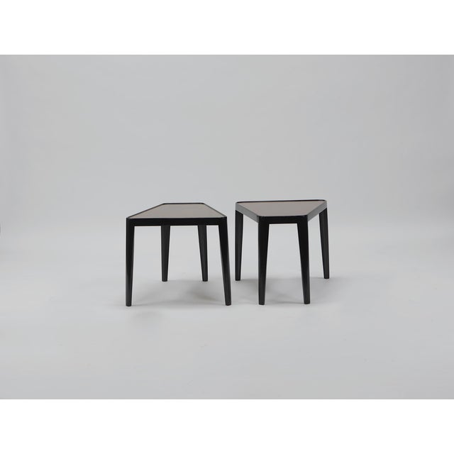 Pair of Wedge Tables by Edward Wormley for Dunbar For Sale - Image 10 of 10
