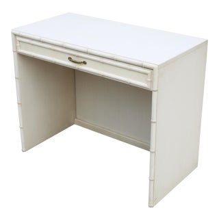 Vintage Dixie Faux Bamboo Chippendale Faux Bamboo Desk For Sale