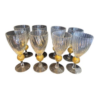 Italian Glass Tumblers - Set of 8 For Sale