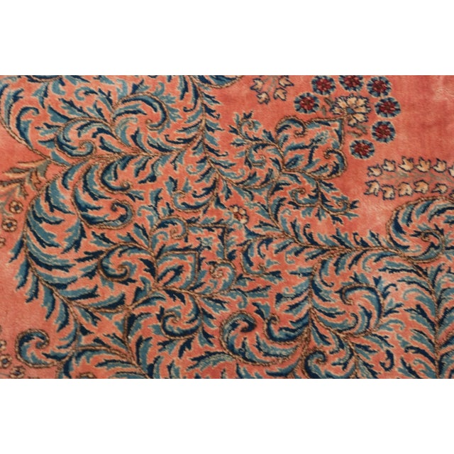 "Rococo Vintage Fine Kerman Carpet - 11'3"" X 14'2"" For Sale - Image 3 of 8"