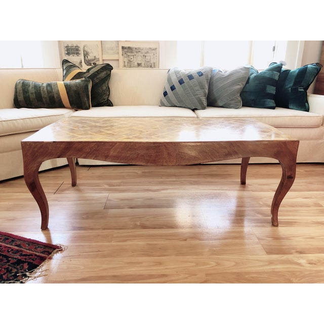 Lovely Marquetry Wooden Inlay Coffee Table For Sale - Image 10 of 10