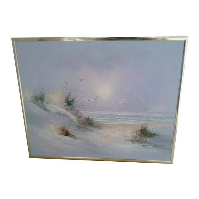 """""""Ocean"""" by John Leman, Oil Painting - Image 1 of 7"""