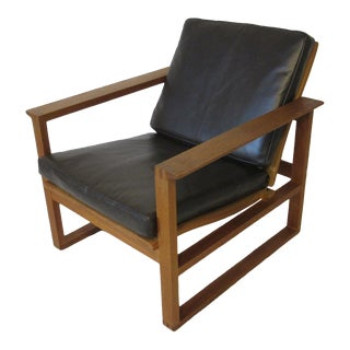 Borge Mogensen Danish Lounge Chair with Leather Upholstery