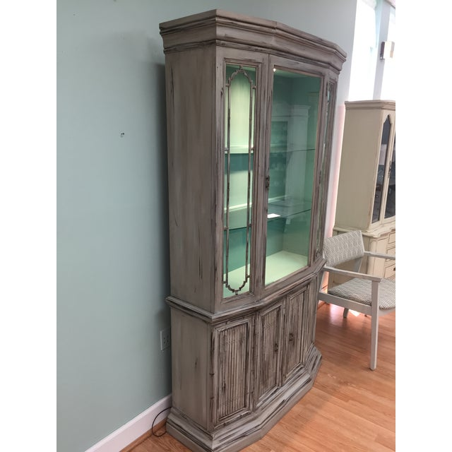 Gray Mid-Century China Cabinet Hutch - Image 3 of 11