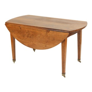 Directoire Walnut Drop Leaf Table For Sale