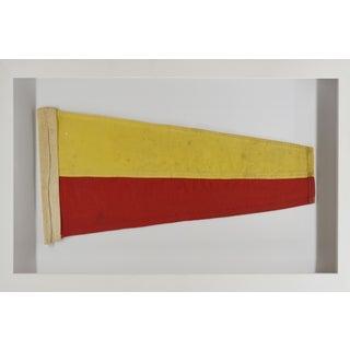 Coastal Wall Decor, Framed Signal Flag For Sale