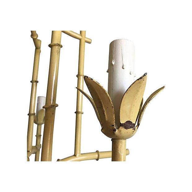 1950s Italian Bamboo Pagoda Chandelier For Sale - Image 9 of 12