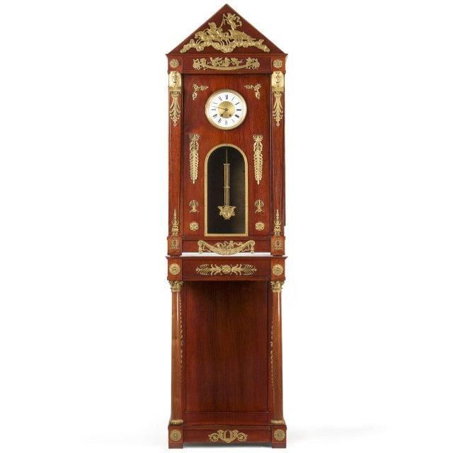 Circa 1910 Egyptian Revival Empire Style Mahogany Longcase Clock - Image 1 of 10