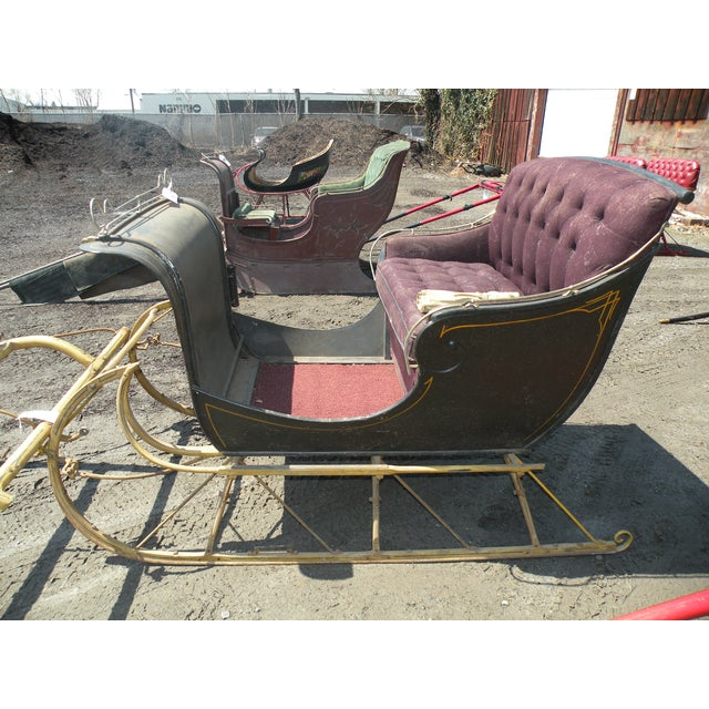 JINGLE ALL THE WAY!! Accepting reasonable offers, 1 of 12 available for sale. Antique Portland Cutter Sleigh & shafts with...