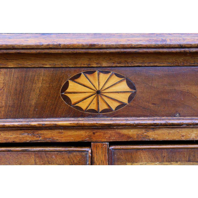 Traditional George III Oak and Mahogany Dresser or Sideboard For Sale - Image 3 of 10