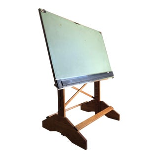 Vintage Anco Bilt Adjustable Industrial Drafting Table. For Sale