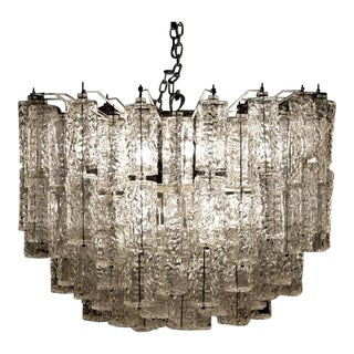 Tiered Chandelier Attributed to Venini, Murano For Sale