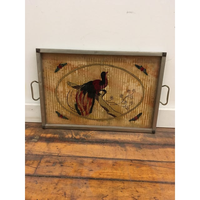 1920s Tray - Vintage Bird Motif Illustrated Tray For Sale - Image 5 of 6